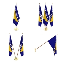 Bosnia and Herzegovina Flag Pack 3D Model