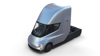 Tesla Truck with Interior Silver 3D Model