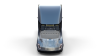 Tesla Truck with Chassis and Interior Silver 3D Model