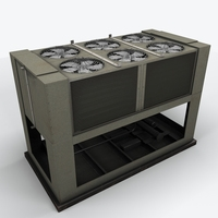 Rooftop Air Conditioner1 3D Model