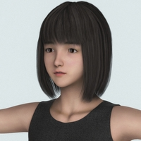 Realistic Asian Teen Girl 3D Model