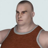 Realistic Young Fatty Man 3D Model