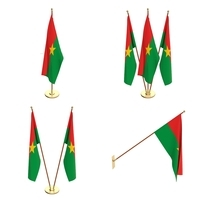 Burkina Faso Flag Pack 3D Model