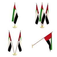 United Arab Emirates Flag Pack 3D Model