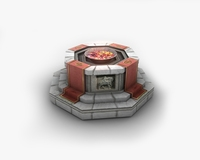 Shrine with fire pit brazier 3D Model