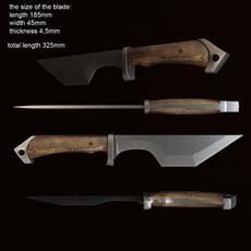Combat knife 3D Model