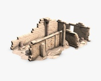 Egyptian ruined temple 3D Model