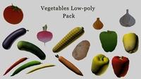 Low-Poly vegetables pack 3D Model