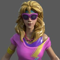 80s Excercise Female 3D Model