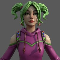 Fortnite CandyGirl 3D Model