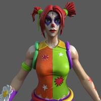 Fortnite Female Clown 3D Model