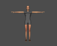 Basic Caucasian Female 3D Model