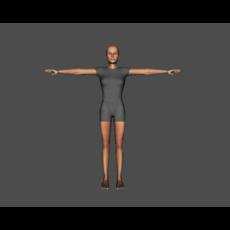 Basic Caucasian Female 3D Model