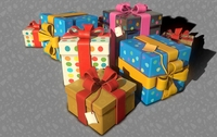 3D Birthday Gift Boxes 3D Model