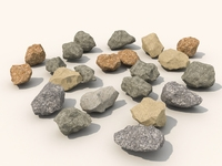 Stone and debris pack 3D Model
