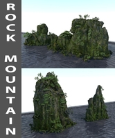 Rock Mountain 3D Model