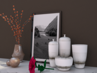 DECOR FLOWER SET 3D 3D Model