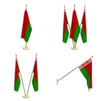 Belarus Flag Pack 3D Model