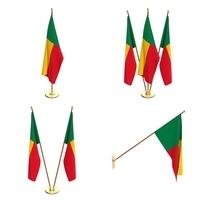 Benin Flag Pack 3D Model