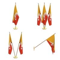 Bhutan Flag Pack 3D Model