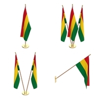 Bolivia Flag Pack 3D Model