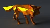 Fox lowpoly 3D 3D Model