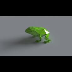 Frog lowpoly 3D 3D Model
