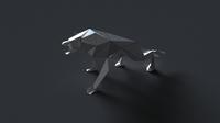 wolf low-poly 3D 3D Model