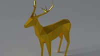low-poly 3D Deer 3D Model