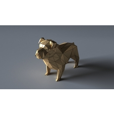 bulldog lowpoly 3D 3D Model
