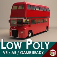 Low Poly London Bus 3D Model