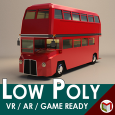 Low Poly London Bus 3D Model