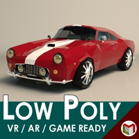 Low Poly Muscle Car 01 3D Model