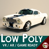 Low Poly Muscle Car 02 3D Model
