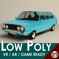 Low Poly Sedan Car 03 3D Model