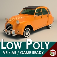 Low Poly City Car 04 3D Model