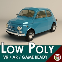 Low Poly City Car 05 3D Model