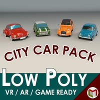 Low Poly City Car Pack 3D Model