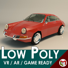 Low Poly Sports Car 3D Model