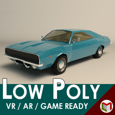 Low Poly Muscle Car 04 3D Model