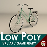 Low Poly Ladies Bike 3D Model
