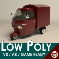Low Poly Three Wheeled Van 3D Model