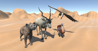 African animals - pack 3D Model