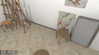 Art workshop - interior and props 3D Model