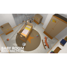 Baby room - props and room 3D Model