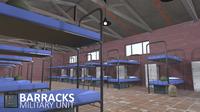 Barracks - military unit 3D Model