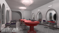 Beauty salon - interior and props 3D Model