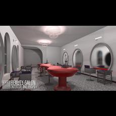 Beauty salon - interior and props 3D Model