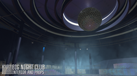 Big night club - interior and props 3D Model