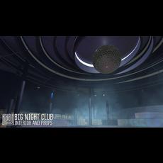 Big night club - interior and props 3D Model